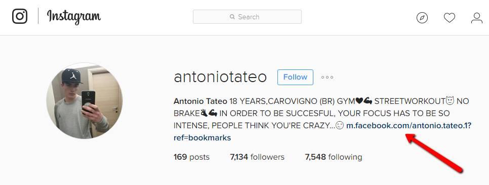 instagram account description
